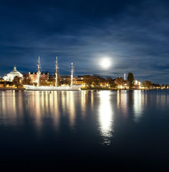 Skeppsholmen at night- kväll